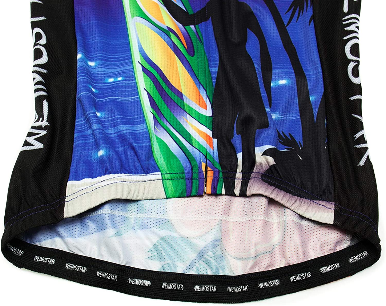 Weimostar Womens Cycling Jersey Short Sleeve Road Bike Biking Shirt Tops Clothes with Pockets