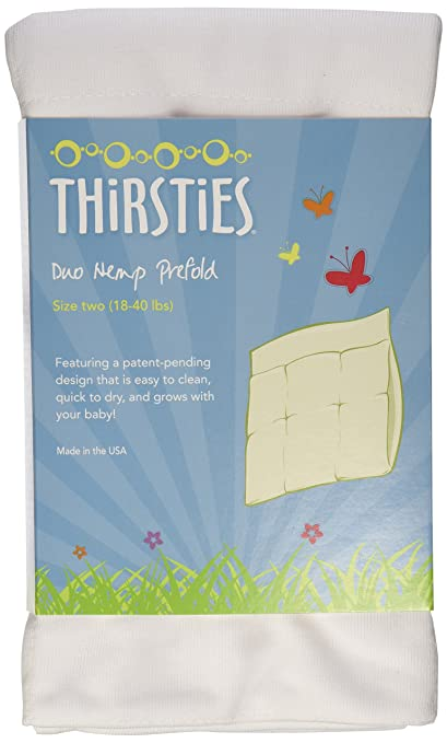 Image: Thirsties Duo Hemp Prefolds | easy to clean | quick to dry | grows with your baby | 25% more absorbent, much more durable than pure cotton