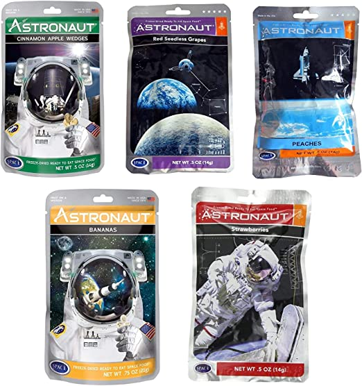 Astronaute space Food séchées congelées prêt à manger fruits lot de 4 variété Bundle