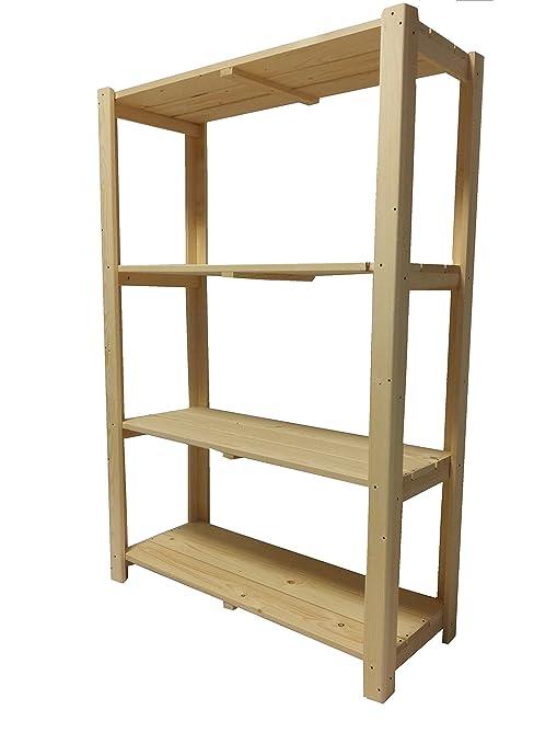 Ripiani Legno Su Misura.Total Wood 2012 Scaffale Scaffalatura In Legno Robusta Per Esterno E