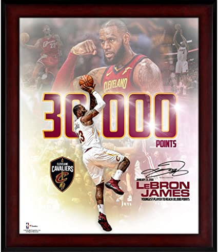 8cd9c737873 Image Unavailable. Image not available for. Color  LeBron James Cleveland  Cavaliers Fanatics Authentic Framed ...