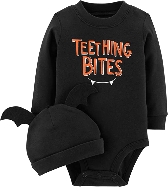 Marsherun Babys Toddler Halloween Otis Long-Sleeve Bodysuit Playsuit
