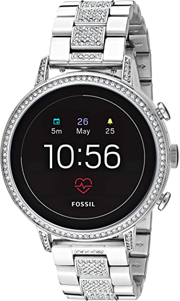 Amazon.com: Fossil Mujer Gen 4 Q Venture HR Acero Inoxidable ...