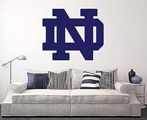 Notre Dame Fighting Irish Wall Decal Home Decor Art NCAA Team Sticker