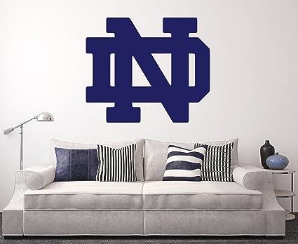 Wall Decals Home Decor | Amazon Com Notre Dame Fighting Irish Wall Decal Home Decor Art Ncaa