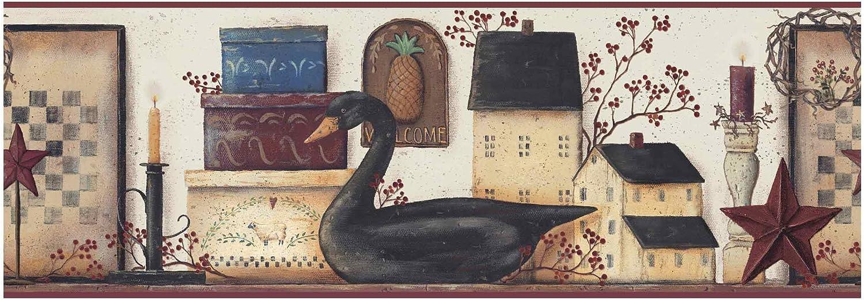 York Wallcoverings BG1613BD The Black Swan Border