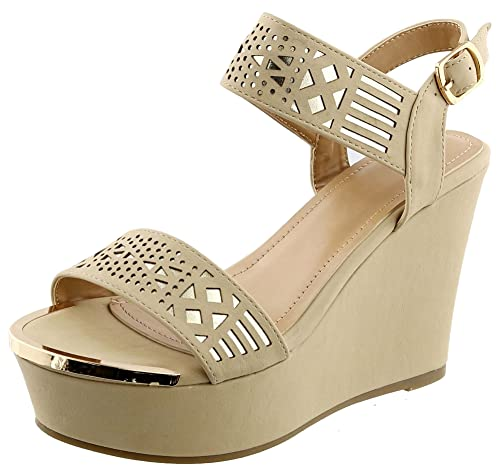97b8ce74b815 TravelNut Graduation Sale Open Toe Platform Wedge Fashion Sandal with  Buckle for Women (Assorted Colors)  Amazon.co.uk  Shoes   Bags