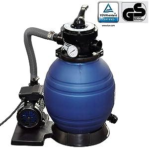 vidaXL Sistema de Filtración Arena Filtrante 11000 L Bomba Piscina Filtro Agua