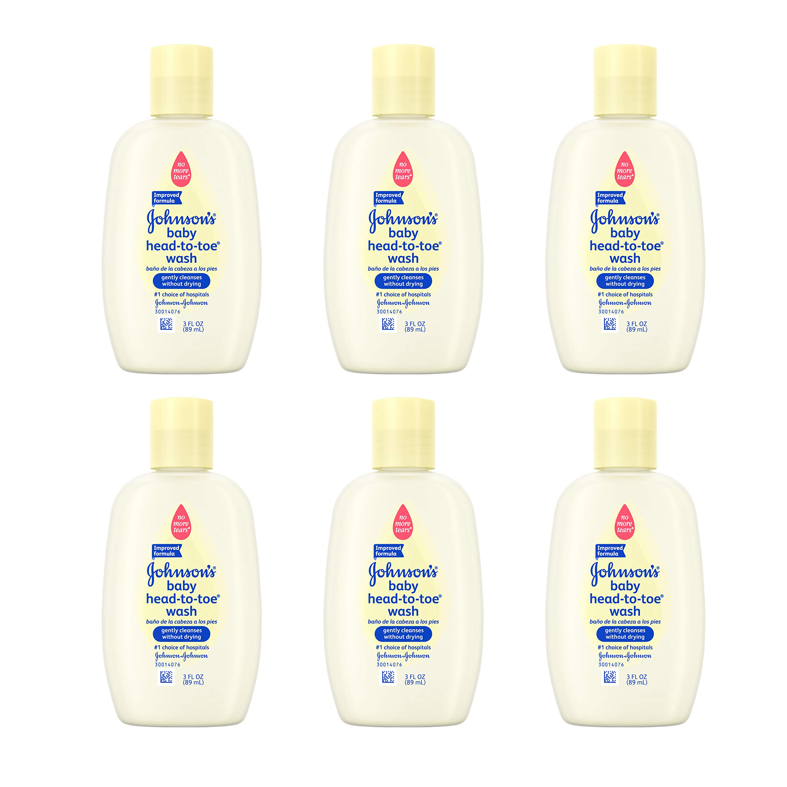 Johnson's Head-To-Toe Baby Wash, Travel Size, 3 Fl. Oz. (Pack of 6) by Johnson's Baby