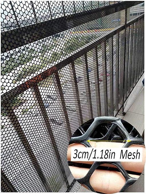 Seguridad For Niños Neto Balcón Escalera Interior Y La Red De Seguridad Protección Cat Net - Barandilla De Escalera Net - Seguridad De Los Niños;Seguridad For Mascotas;Escaleras Protector - Negro: Amazon.es: Productos