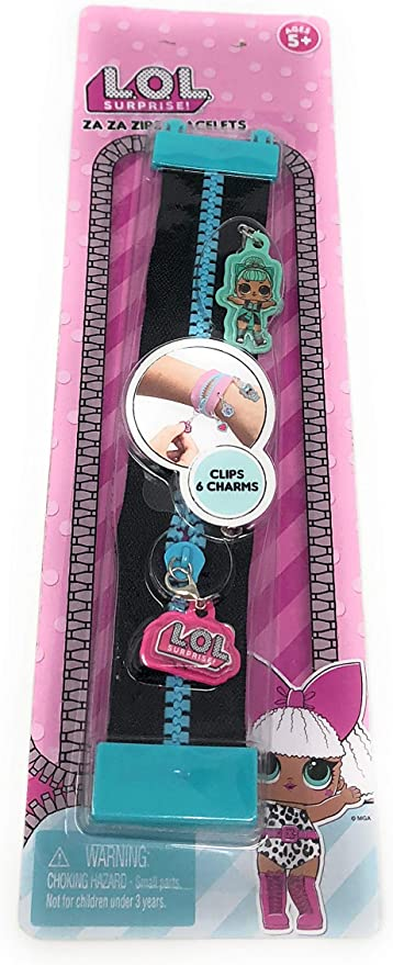 LOL Surprise Za Za Zips Crystal Queen Bracelet and Pink Crystal Queen Charms