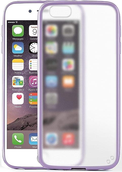 MoEx® Cover Opaca [Trasparente] Compatibile con iPhone 6S / iPhone 6 | Bordi rialzati, Lilla