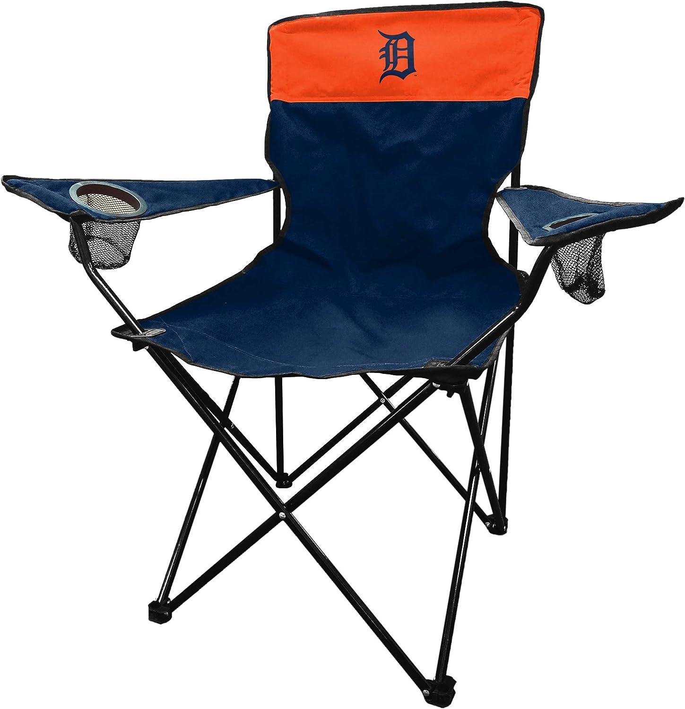 Logo Brands MLB Detroit Tigers Unisex Legacy Sporting Chair Navy//Orange One Size