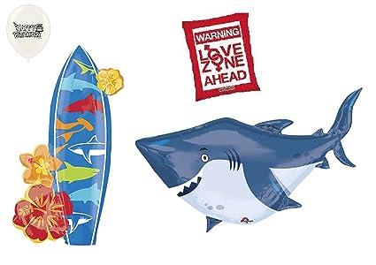 Amazon.com: Shark and Surf Dangerous Waters Warning Balloon ...