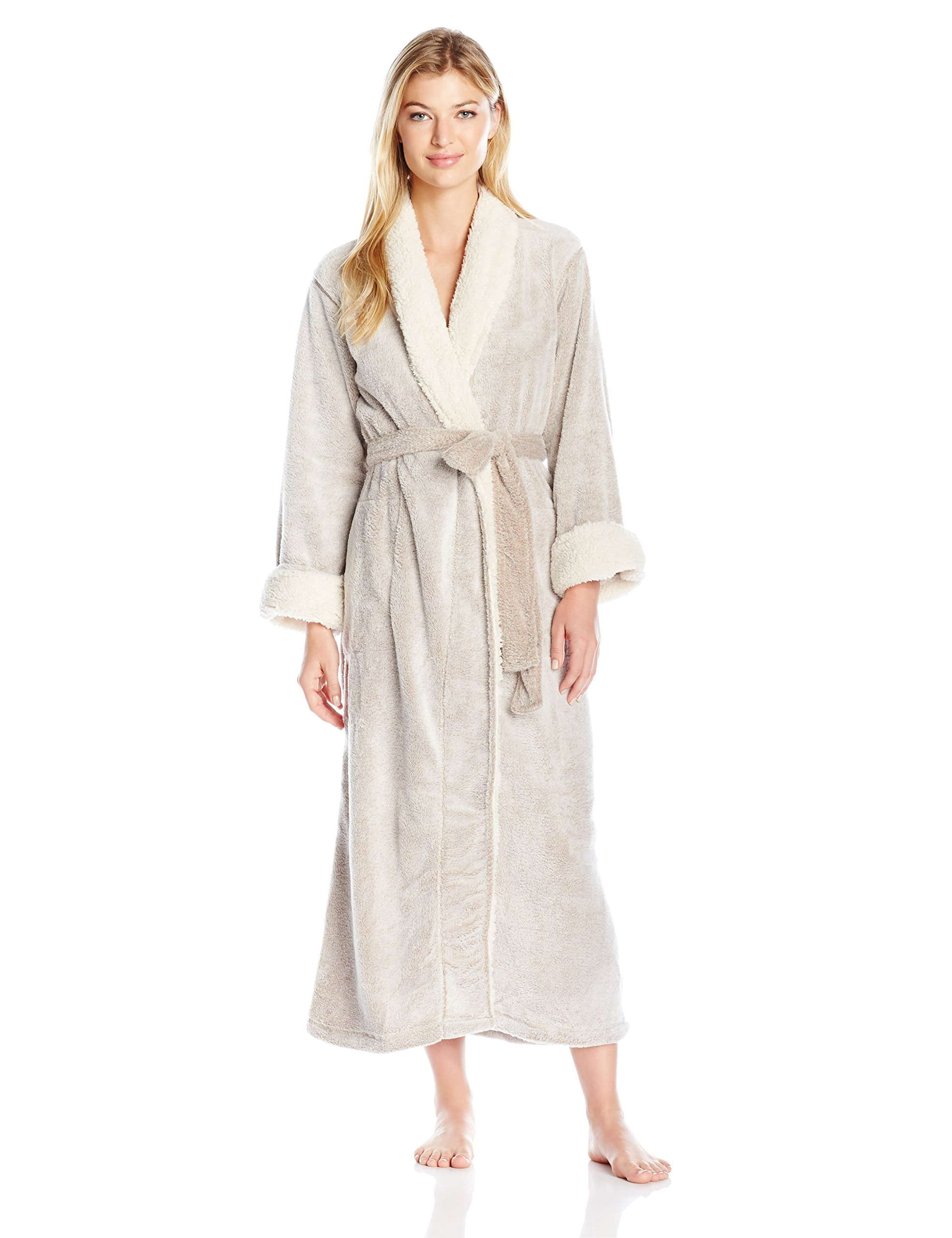 Natori Women's Sherpa Robe, Cashmere, Large