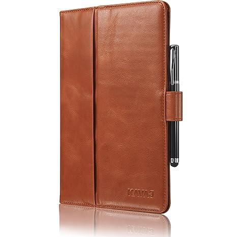 d059e61ad01fde KAVAJ iPad Mini 5 2019   4 Case Leather Cover London Cognac-Brown for Apple