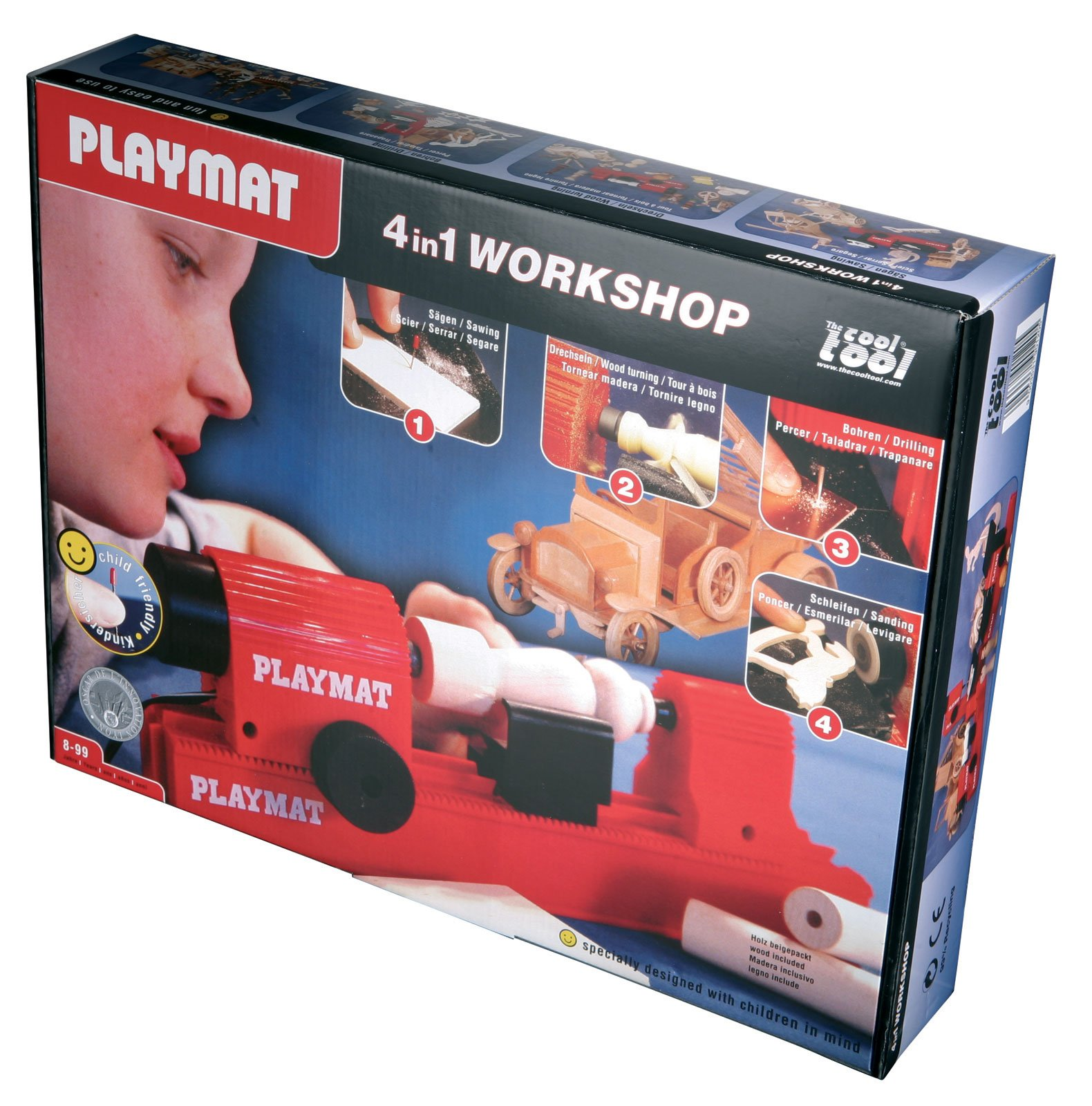 The Cool Tool Playmat 4 in 1 Workshop World's Only Child-Friendly Working Jigsaw by The Cool Tool (Image #1)