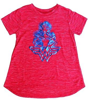 a5de9c5e9b5 Amazon.com  Wonder Woman Girls DC Super Hero Girls Character T-Shirt ...