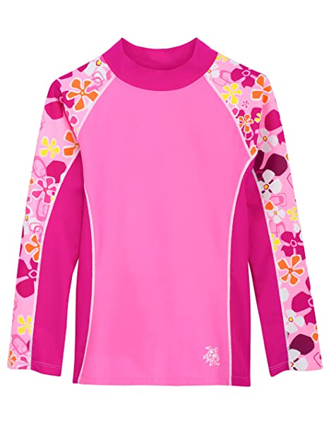 d907a1f839 Tuga Girls Long Sleeve Rash Guards 1-14 Years