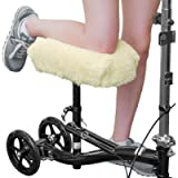 RMS Knee Walker Pad Cover - Plush Synthetic Faux Sheepskin Scooter Seat Cushion - Padded Foam for Comfort During Injury…