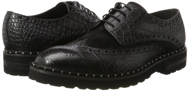 MELVIN & HAMILTON MH HAND MADE Schuhe OF CLASS Herren (Big Matthew 4 Derbys Schwarz (Big Herren Croco / Hairon schwarz (1,3) / schwarz (2), Aspen+eva Blk  Rivets) a75ed5