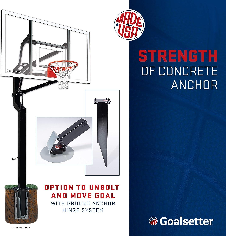Goalsetter All-Star In Ground Adjustable Basketball System with 54-Inch Glass Backboard Multiple Rim Options