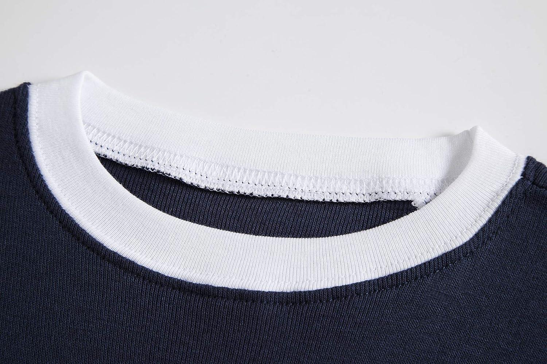 Little Big Boys Summer Snug-Fit Pajamas Short 100/% Cotton Kids Pjs Sets