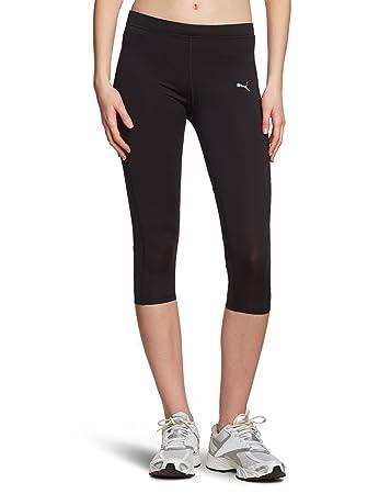 Puma Women's 3/4-length Running Leggings Tight Black-black Size:xs