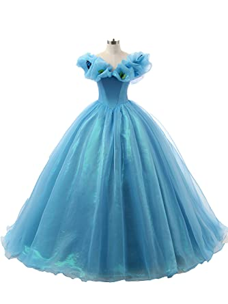 Annas Bridal Womens Butterfly Cinderella Prom Dresses Ball Gown Quinceanera Dress Blue UK6