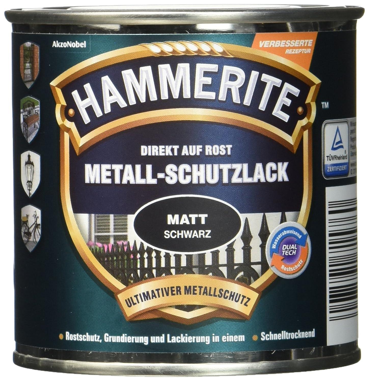 AkzoNobel (DIY HAMMERITE) Metall-Schutzlack Matt Schwarz 0,250 L, 5134931 AKZO NOBEL (DIY HAMMERITE)