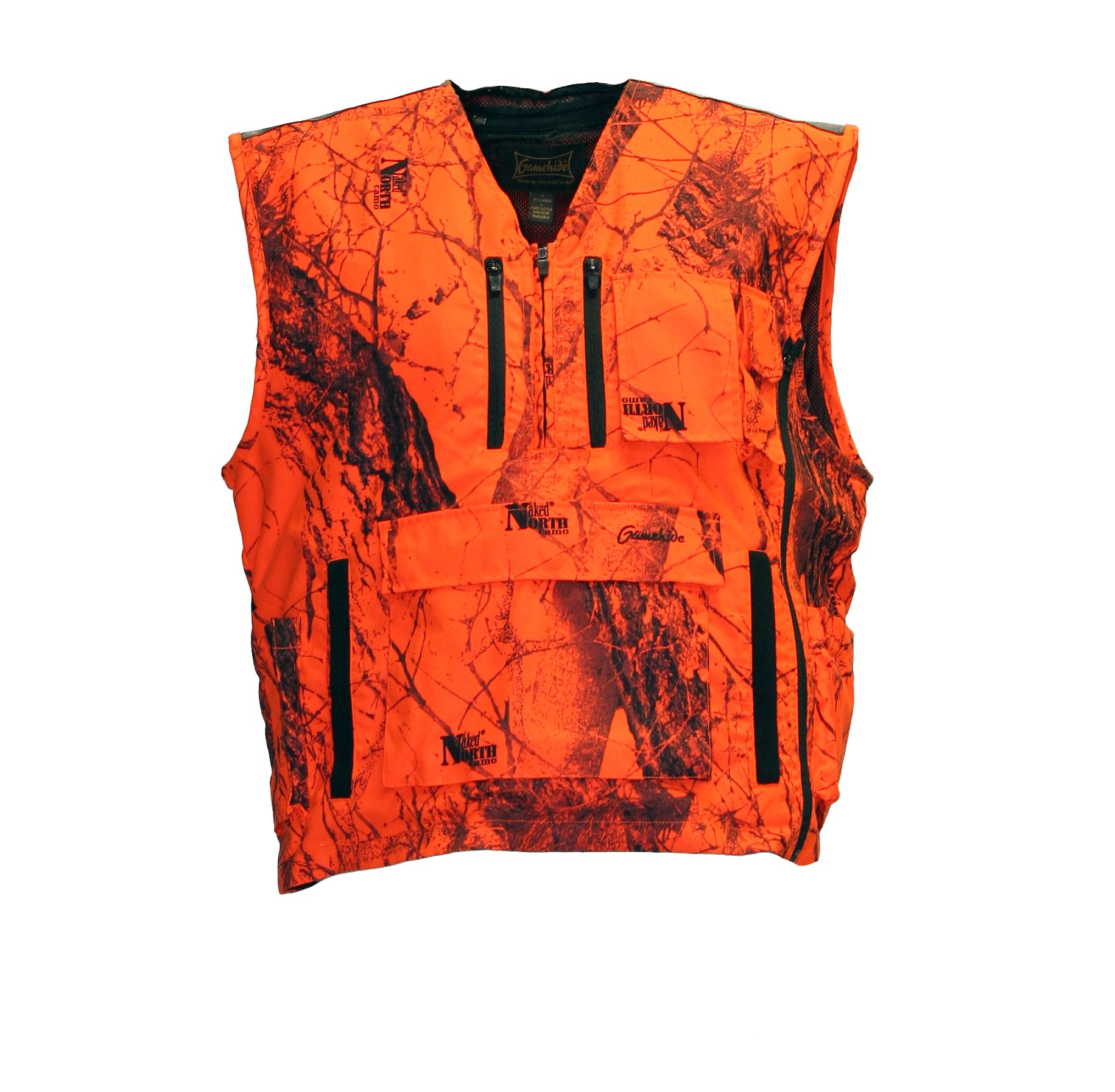 Mountain Pass Extreme Big Game Blaze Vest (Orange Camo, X-Large) by Gamehide