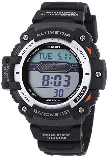 Amazon.com: Casio Pro Trek Gents Altimeter/Barometer Strap Watch: Watches