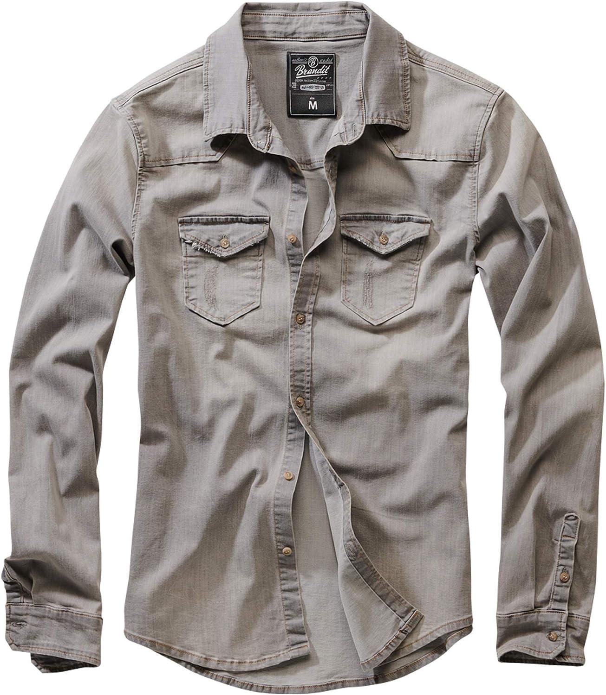 Brandit Riley Denimshirt Camisa Vaquera para Hombre: Amazon.es: Ropa y accesorios