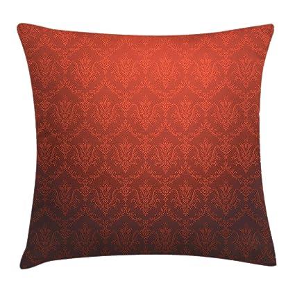 Dark Red Throw Pillows.Amazon Com Dark Red Throw Pillow Cushion Cover Antique