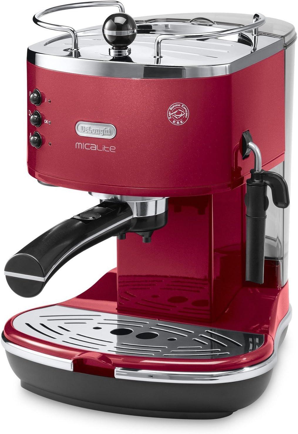 DeLonghi ecom311.r cafetera eléctrica, icona micalite, rojo: Amazon.es: Industria, empresas y ciencia