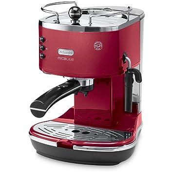 DeLonghi ecom311.r cafetera eléctrica, icona micalite, rojo