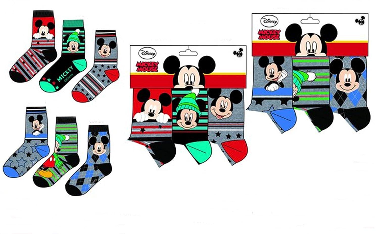 6 pares de calcetines algodon 6 modelos diferentes varios colores diseño Mickey (Disney) 23-26, 27-30 y 31-34 alta calidad (31-34): Amazon.es: Ropa y ...