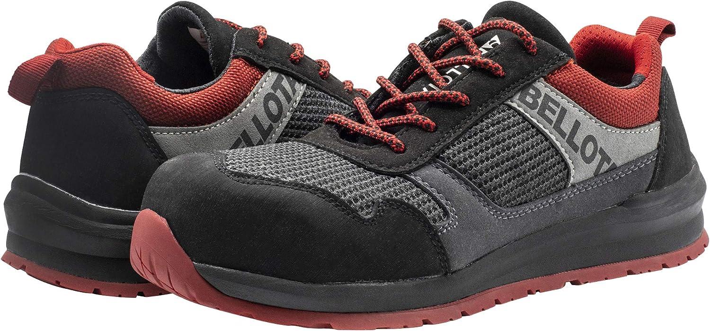 Bellota 72350BR44S1P Zapato de seguridad, Negro, Rojo, 44