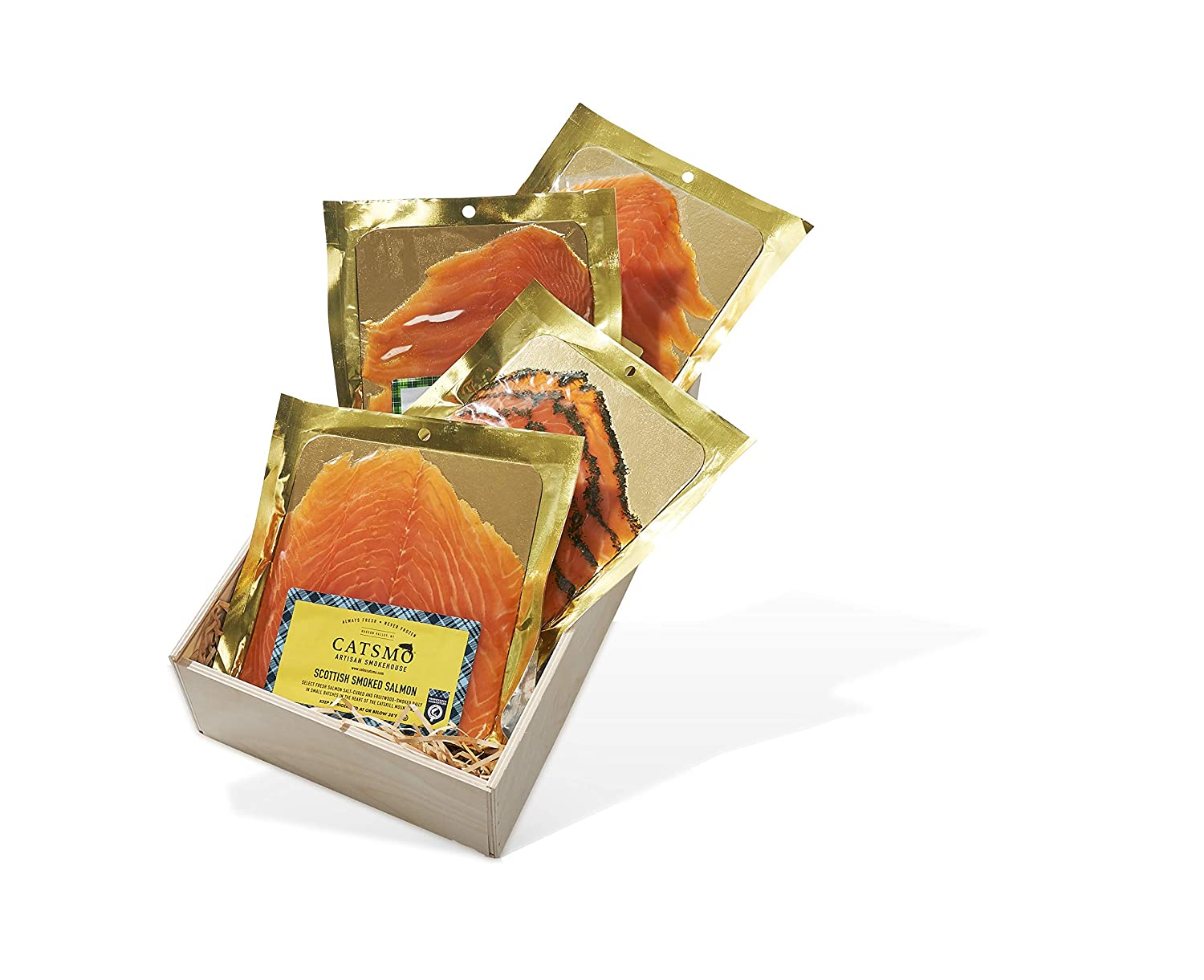Catsmo Smoked Salmon Collection - 4 x 4oz Packs