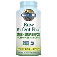 Garden of Life Raw Perfect Food Green Superfood Juiced Greens Powder Capsules -...