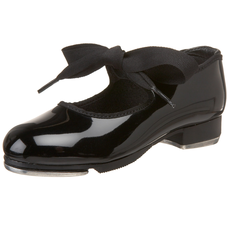 Capezio Jr.Tyette N625C Tap Shoe (Toddler/Little Kid),Black Patent,9 M US Toddler