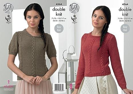 2f8e804dbd12f King Cole 4364 Knitting Pattern Easy Knit Sweaters in King Cole Baby Alpaca  DK  Amazon.co.uk  Kitchen   Home