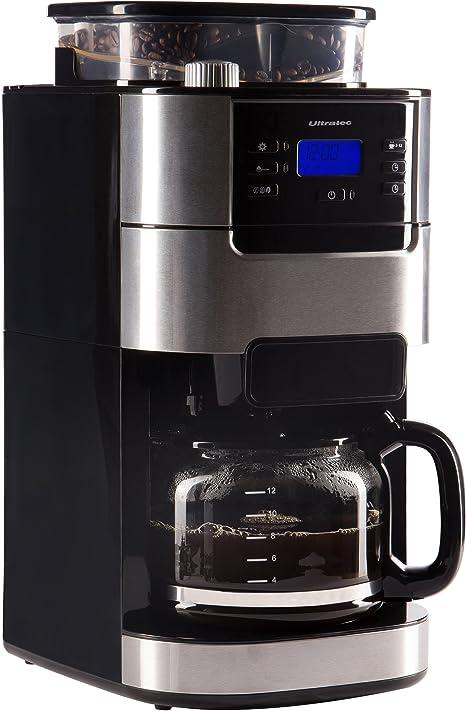 Ultratec Cafetera automática con molinillo y función de