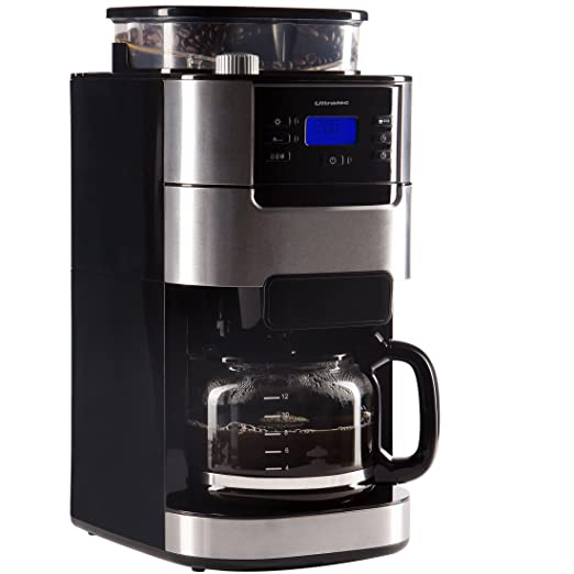 Ultratec Cafetera automática con molinillo y función de ...