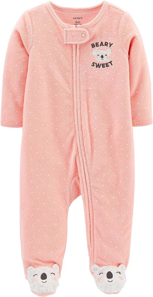 6 Month Girl Carters Schlafanzug Koala Frottee US Size 56 62 68 Strampler Baby M/ädchen Einteiler mit Rei/ßverschluss US Size 3