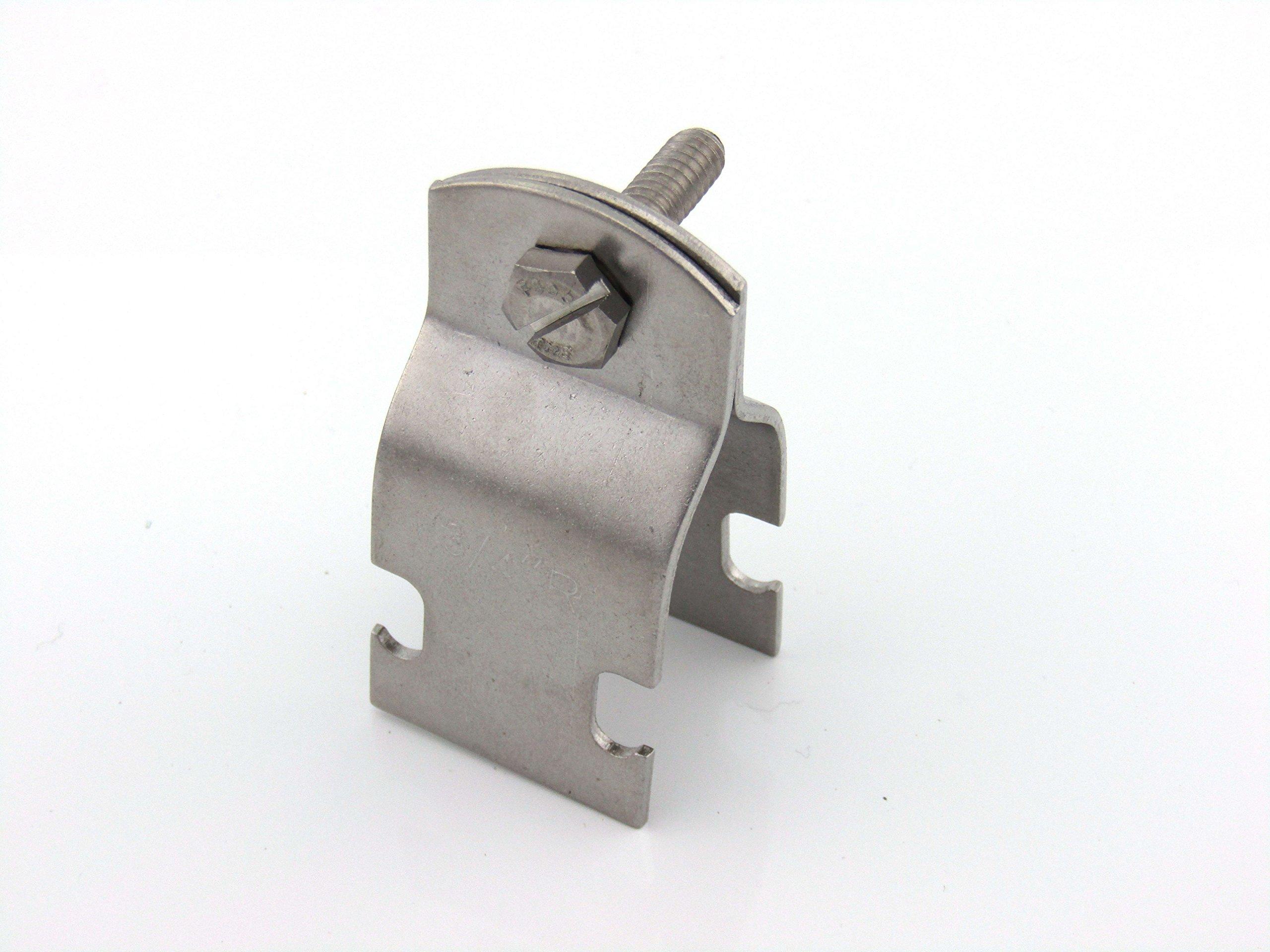 3/4in STD Pipe & Rigid Conduit Clamp; 304 S/S (100 per box) by ARWS