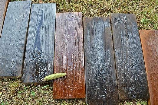 2 moldes Old tablas de madera molde de hormigón jardín trampolín camino patio # S05: Amazon.es: Hogar