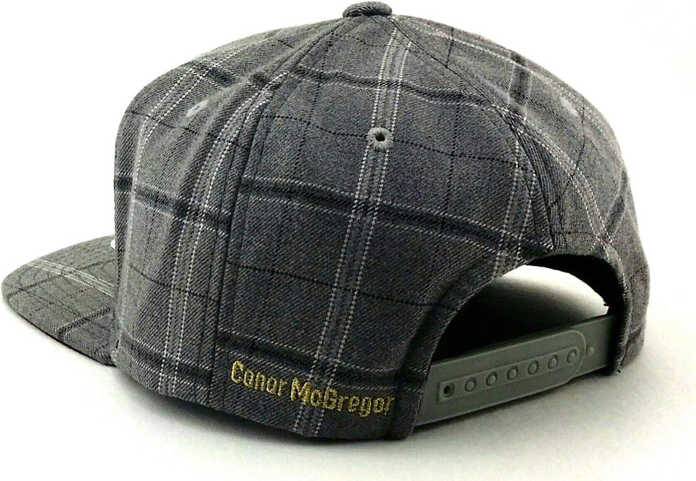 Reebok UFC New RBK MMA Gray Conor McGregor Plaid Fighters Era Snapback Hat Cap