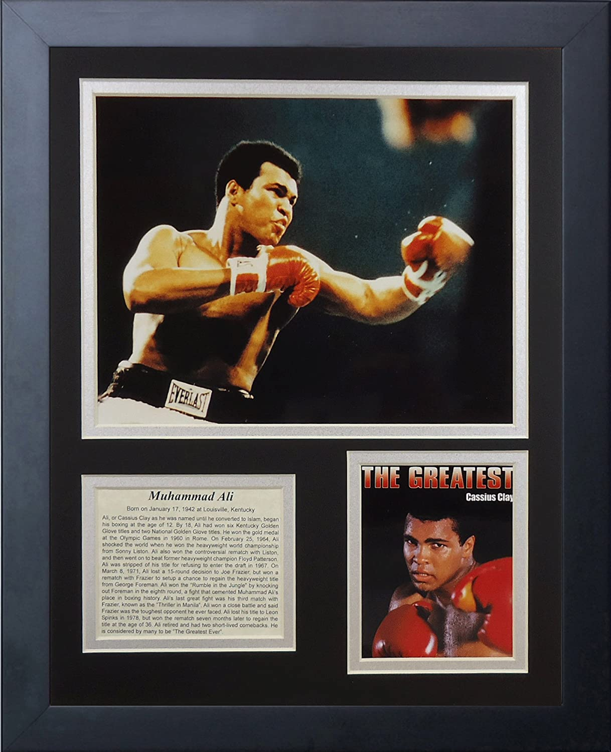 11 by 14-Inch Legends Never Die Muhammad Ali Framed Photo Collage