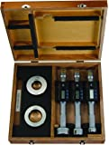 """Mitutoyo 468-988 Digimatic Holtest LCD Inside Micrometer, Complete Unit Set, 1-2""""/25.4-50.8mm Range, 0.00005"""" Graduation, +/-0.00015"""" Accuracy (3 Piece Set)"""